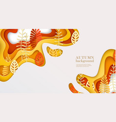 Autumn banner with multi layered shapes vector