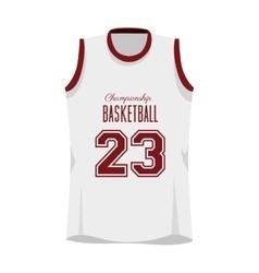 basketball shirt sport vector image