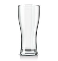 Beer glass empty vector