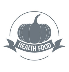 bio health food logo simple style vector image
