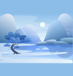 blue mountain landscape flat vector image