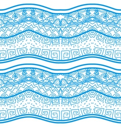 Blue seamless pattern with nature elements vector image