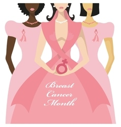 Breast Cancer AwarenessThree International Woman vector image