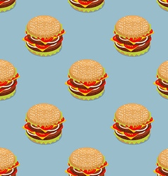 Burger pattern Sandwich of patties and cut roll vector