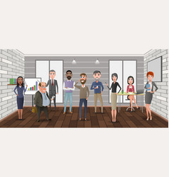cartoon business characters in the office vector image