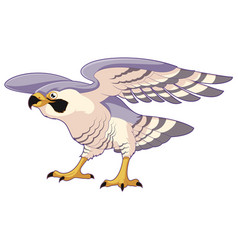 Cartoon standing falcon vector