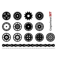 Cogwheel set vector