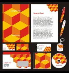 company stationery templates vector image