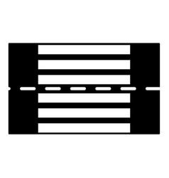 crosswalk icon simple style vector image