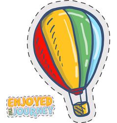 Cute air baloon doodle vector