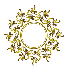 Decorative art frame vector