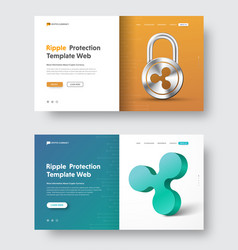design of a header for a website with a padlock vector image