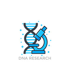 Dna research icon vector
