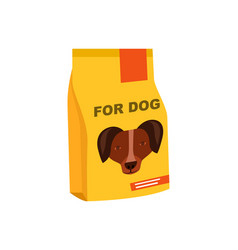 Dog preserved food pack isolated icon vector