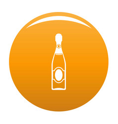 Dry champagne icon orange vector