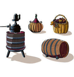 equipment to produce wine vector image