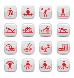 fitness and sport icons vector image