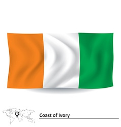 Flag of Coast of Ivory vector image