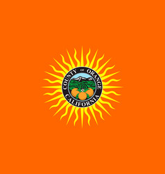 Flag of orange county california usa vector