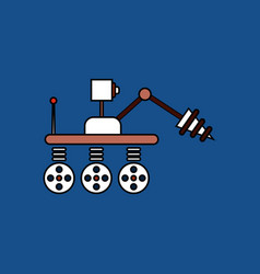 Flat icon design collection space robot vector