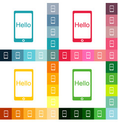flat icon gadget phone business theme vector image