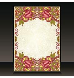 Flayer ornate floral design vector