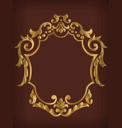 Frame ornamental gold royal border decoration vector
