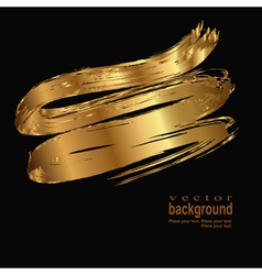 gold stroke vector image