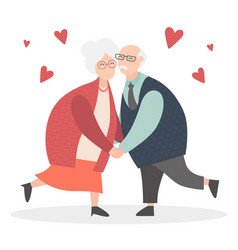 Grandparents are together forever in love happy vector