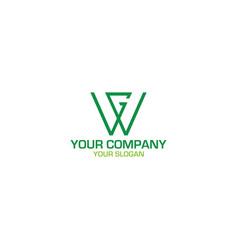 gw green logo design vector image