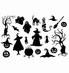 halloween stencil on the white background vector image