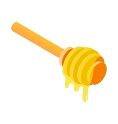Honey dipper isometric 3d icon vector image