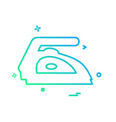 iron icon design vector image