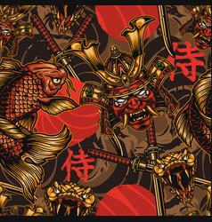 Japanese style vintage seamless pattern vector