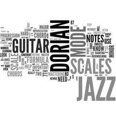 Jazz guitar scales common scales used in jazz vector