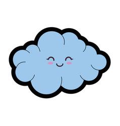 Kawaii cloud icon vector