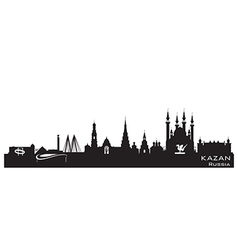 Kazan Russia city skyline Detailed silhouette vector image