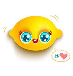 lemon with blue eyes vector image