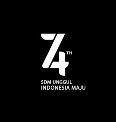 Logo 74th indonesia independence day vector