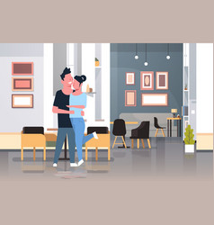 loving couple embracing and kissing man woman vector image