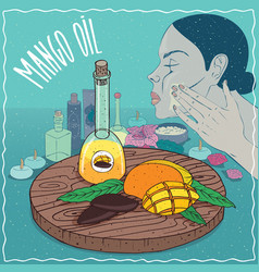 Mango seed oil used for skin care vector