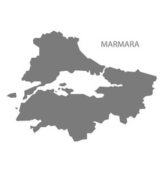 Marmara turkey map grey vector