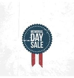 Memorial Day Sale circle Emblem vector