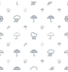 Meteorology icons pattern seamless white vector