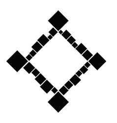 Minimal diagonal geometrical square badge vector