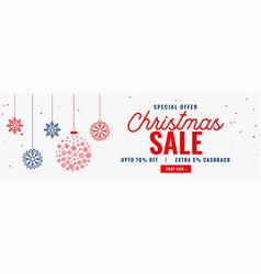 Modern christmas season sale banner design vector