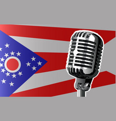 Ohio flag and microphone vector