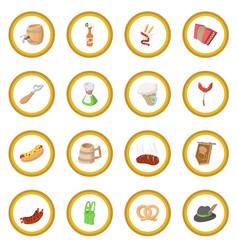 Oktoberfest party cartoon icon circle vector