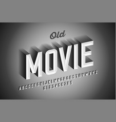 old movie style vintage font design retro style vector image
