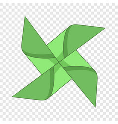 Origami mill icon cartoon style vector